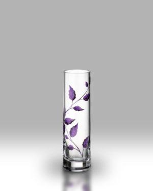 Purple Leaf 19.5cm Bud Vase