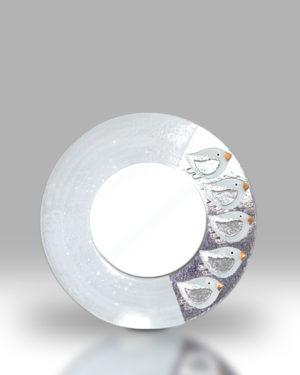 Round Mirror – Dawn Chorus White