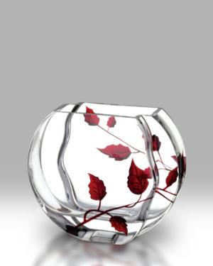 Ruby Leaf 16cm Circle Vase
