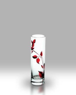 Ruby Leaf 19.5cm Bud Vase