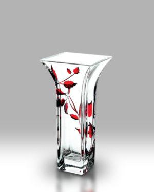 Ruby Leaf 22.5cm Flared Vase