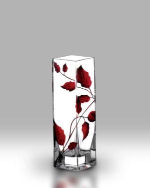 Ruby Leaf 21cm Bud Vase