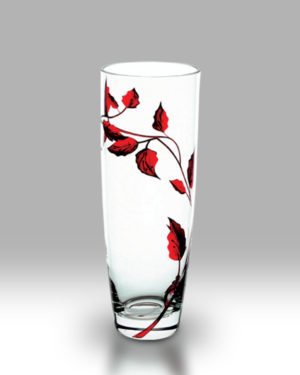 Ruby Leaf 25cm Classic Vase