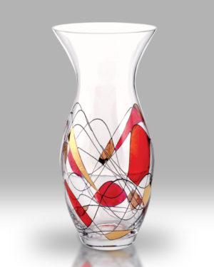 Ruby Mosaic 31cm Tulip Vase
