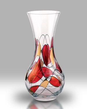 Ruby Mosaic 28cm Bouquet Vase