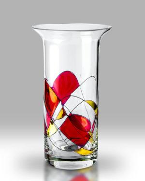 Ruby Mosaic 22cm Chorus Vase
