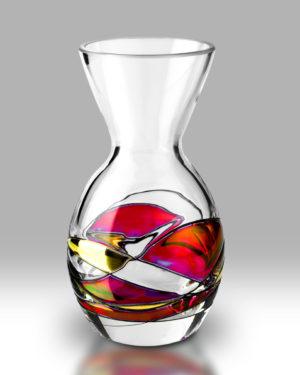Ruby Mosaic 14cm Flared Amphora Vase