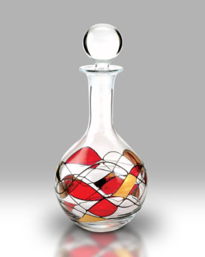 Ruby Mosaic 750ml Decanter