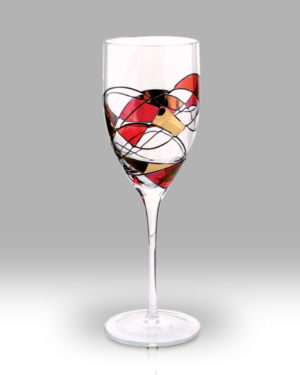 Ruby Mosaic 24cm Wine Pair