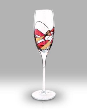 Ruby Mosaic 25cm Champagne Pair