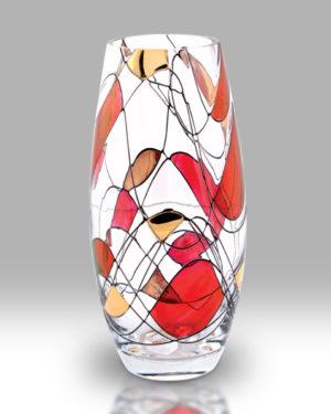 Ruby Mosaic 22.5cm Classic Vase