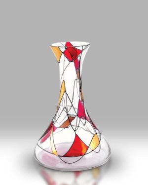 Ruby Mosaic 20cm Spring Vase
