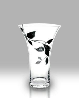 Silver Leaf 28.5cm Flared Vase