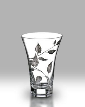 Silver Leaf 19cm Flared Vase
