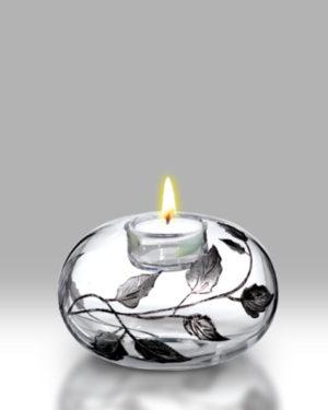Silver Leaf 13cm T'Light