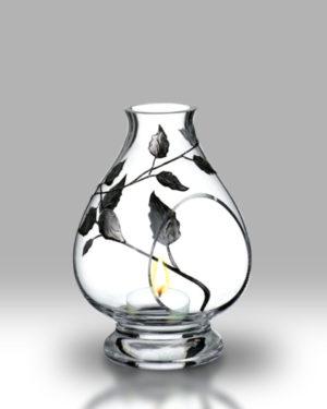 Silver Leaf 20cm Storm Lamp