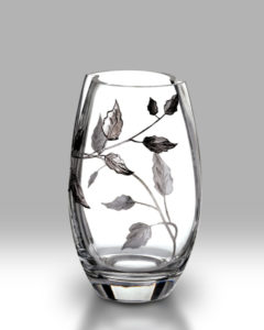 Silver Leaf 20cm Round Vase