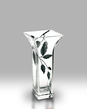 Silver Leaf 22.5cm Flared Vase