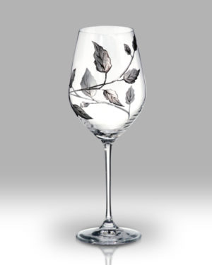 Silver Leaf 24cm Wine Pair