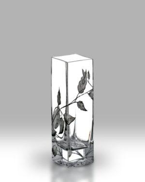 Silver Leaf 21cm Bud Vase