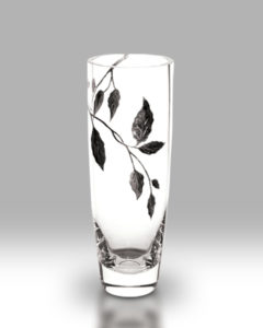 Silver Leaf 25cm Classic Vase