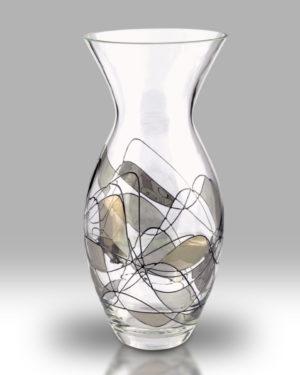Silver Mosaic 31cm Tulip Vase