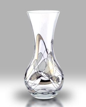 Silver Mosaic 28cm Bouquet Vase