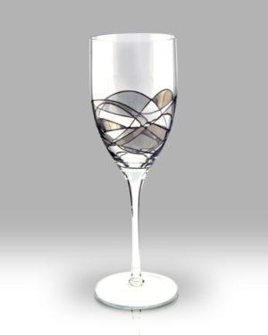 Silver Mosaic 24cm Wine Pair