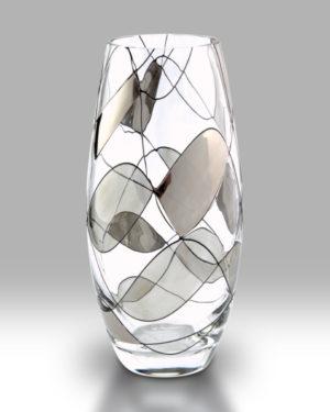 Silver Mosaic 22.5cm Classic Vase