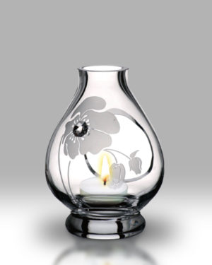 Crystal Diamond Poppy 20cm Storm Lamp