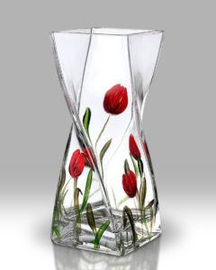 Tulip 20cm Twist Vase
