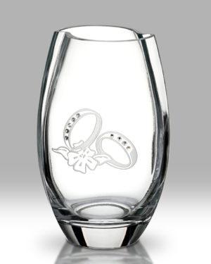 Swarovski Rings Round Vase