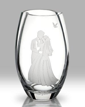 Bride & Groom Round Vase