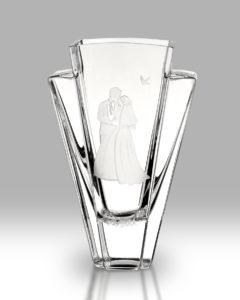 Bride & Groom Flared Vase