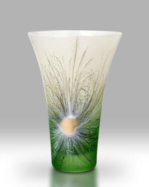 Rhapsody Green Vase