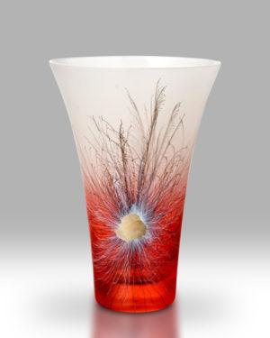 Rhapsody Saffron Red Vase